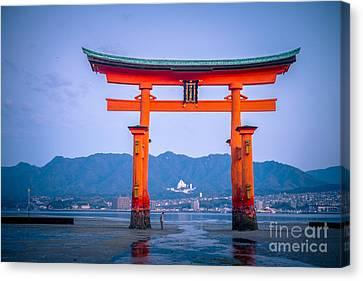 Miyajima Canvas Print - Itsukushima Shrine by Sabino Parente