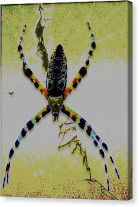 Itsy Bitsy Spider Canvas Print by Rebecca Flaig