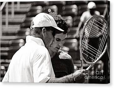 Ivan Lendl And Andy Murray  Canvas Print by Nishanth Gopinathan