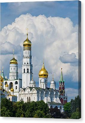 Ivan The Great Bell Tower Of Moscow Kremlin - Featured 3 Canvas Print by Alexander Senin