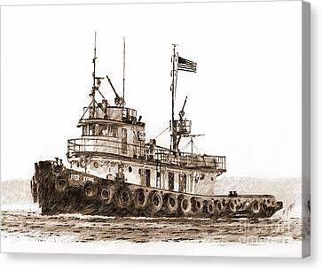 Ivar Foss Sepia Canvas Print