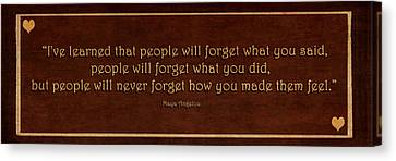 Philosophy Canvas Print - I've Learned  by Maria Angelica Maira