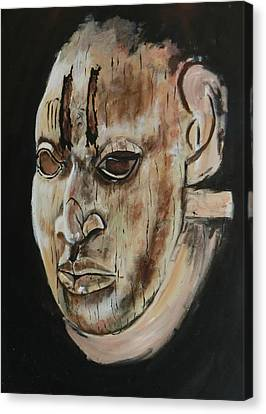 Ivory Benin Mask IIi Canvas Print by Amy Williams