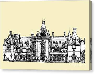 Ivory Biltmore Estate Canvas Print by Building  Art