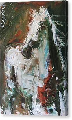 Canvas Print featuring the painting Ivory by Robert Joyner