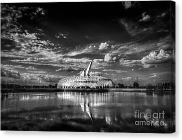 Ivory Tower Of Knowledge Bw Canvas Print by Marvin Spates