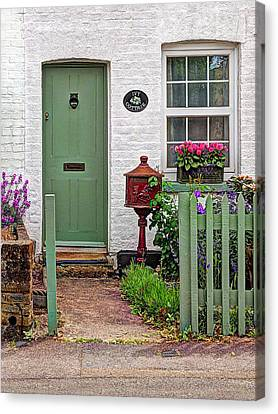Ivy Cottage Welcome Canvas Print by Gill Billington