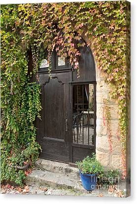 Canvas Print featuring the photograph Ivy Covered Doorway by Paul Topp