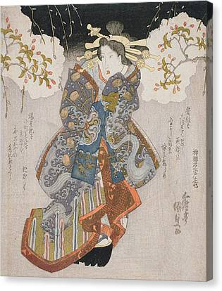 Iwai Kumesaburo II As A Courtesan Canvas Print by Utagawa Kunisada