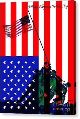 Iwo Jima 20130210 I Pledge Allegiance To The Flag Canvas Print
