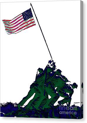 Iwo Jima 20130210-white Canvas Print by Wingsdomain Art and Photography