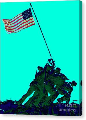 Iwo Jima 20130210m128 Canvas Print by Wingsdomain Art and Photography