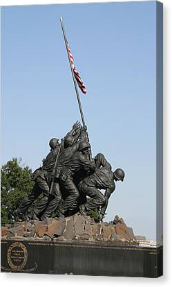 Iwo Jima Memorial - 12121 Canvas Print by DC Photographer