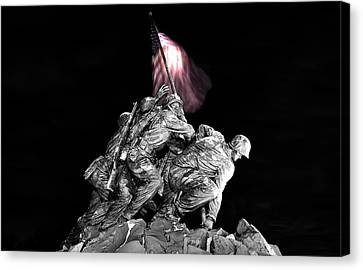 Iwo Jima Memorial Canvas Print by Michael Donahue