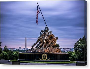 Bravery Canvas Print - Iwo Jima Monument by David Morefield