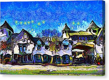 Izod Canvas Print - Izod Building In Downtown Solvang California by Barbara Snyder