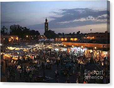 J Ma Fna Place Marrakesh Canvas Print by Sophie Vigneault