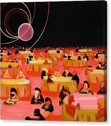 Black Tie Canvas Print - Jabberwocky 3 by Susie Hamilton