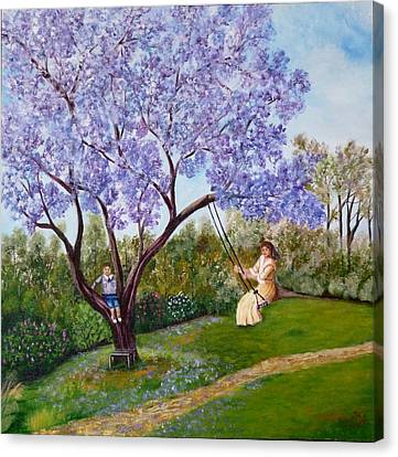 Jacaranda Time Canvas Print