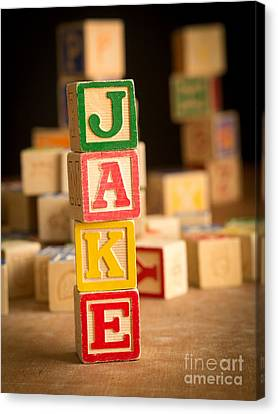 Jake - Alphabet Blocks Canvas Print by Edward Fielding
