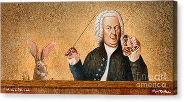 Jack And A Beer Bach... Canvas Print by Will Bullas