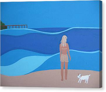 Jack At The Beach Canvas Print by Sandra McHugh