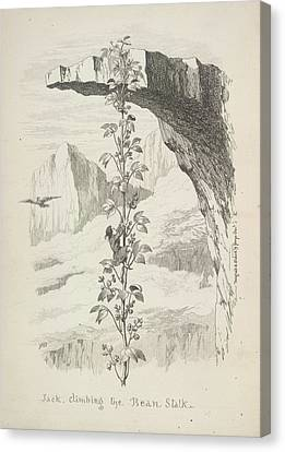 Jack Climbing The Bean Stalk Canvas Print by British Library