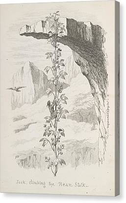 Jack Climbing The Beanstalk Canvas Print by British Library