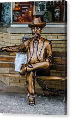 Jack Daniel's Statue Canvas Print