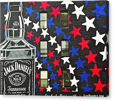Canvas Print featuring the photograph Jack Daniel's Wall Art by Joan Reese