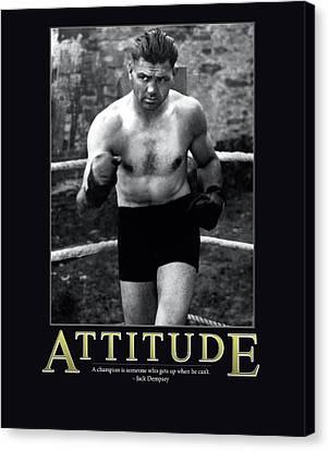 Jack Dempsey Attitude Canvas Print by Retro Images Archive