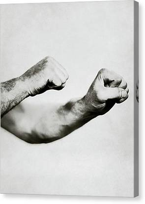 1923 Canvas Print - Jack Dempsey's Hands by Ira L. Hill