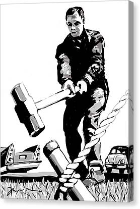 Canvas Print featuring the painting Jack Hammer by Jean Pacheco Ravinski