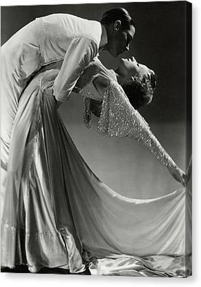 Dresses Canvas Print - Jack Holland And June Hart Dancing by Horst P. Horst
