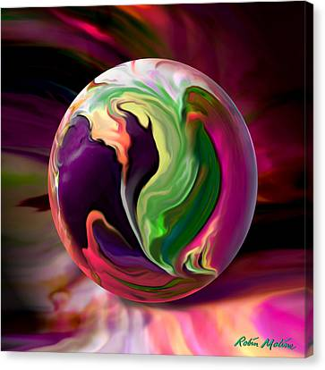 Orbs Canvas Print - Jack In The Pulpit Globe by Robin Moline