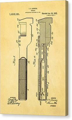 Jack Johnson Wrench Patent Art 1922 Canvas Print by Ian Monk