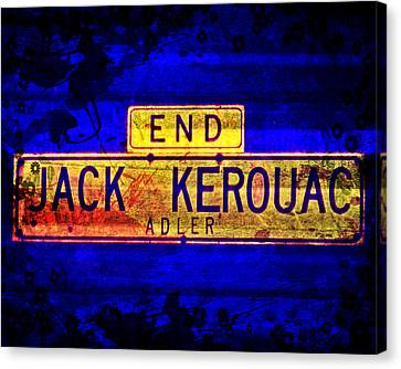Jack Kerouac Alley Canvas Print by Michelle Dallocchio