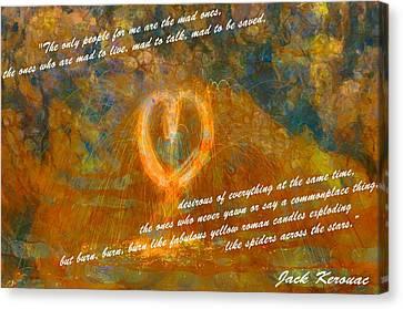 Jack Kerouac Burn Burn Burn Canvas Print