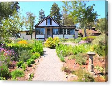 Jack London Countryside Cottage And Garden 5d24565 Canvas Print by Wingsdomain Art and Photography