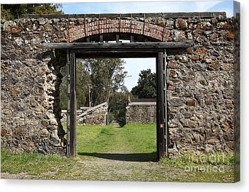 Jack London Ranch Winery Ruins 5d22128 Canvas Print by Wingsdomain Art and Photography