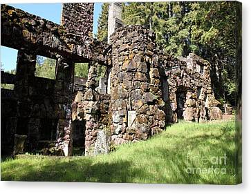 Jack London Wolf House 5d22014 Canvas Print by Wingsdomain Art and Photography