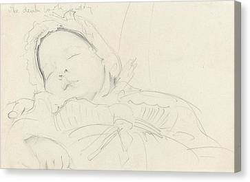 Jack Millet As A Baby , C.1888 Canvas Print by John Singer Sargent