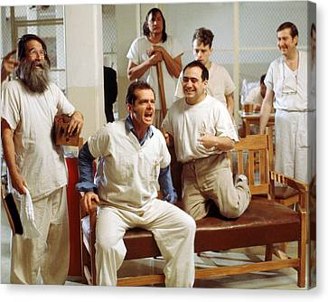 Jack Nicholson In One Flew Over The Cuckoo's Nest  Canvas Print by Silver Screen