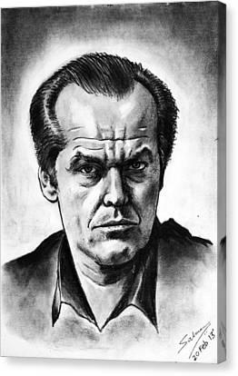 Jack Nicholson Canvas Print by Salman Ravish