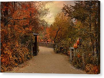 Jack-o-lantern Lane Canvas Print