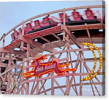 Jack Rabbit Coaster Kennywood Park Canvas Print by Jim Zahniser
