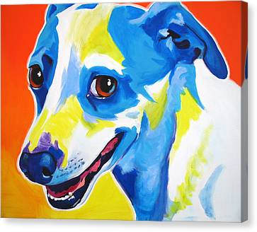 Jack Russell - Skippy Canvas Print by Alicia VanNoy Call