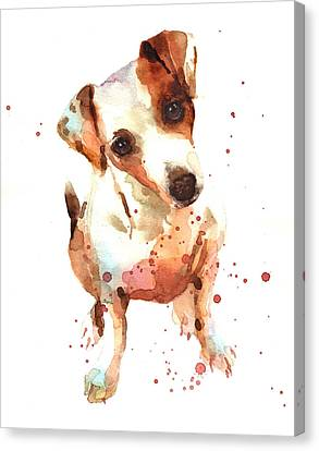 Jack Russell Painting Canvas Print by Alison Fennell