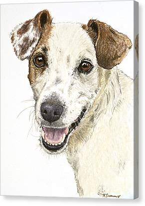 Jack Russell Terrier Portrait Canvas Print