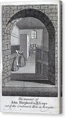 Jack Sheppard Escaping Canvas Print by British Library